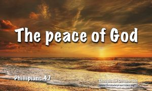 """Daily Readings & Thought for October 9th. """"THE PEACE OF GOD"""""""