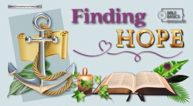 Finding hope:  New Seminar Series